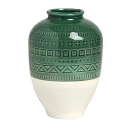 "8"" Geo Pattern Ceramic Vase view 1"