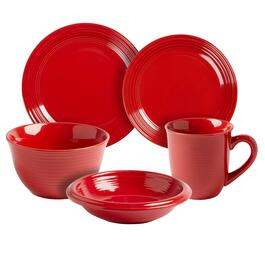 Bistro Basics Solid Red Dinnerware Collection