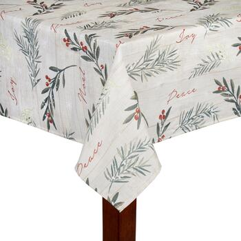 """Peace"" Holiday Tablecloth"