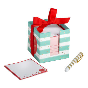 """Best Teacher Ever!"" Cube Notepad and Pen Set view 1"
