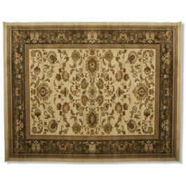 "Traditional Brown Print 7'10"" x 10'3"" Area Rug view 1"