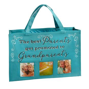 """Promoted to Grandparents"" 3-Photo Tote Bag"