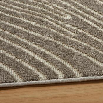 Beige Wood Grain Area Rug view 2