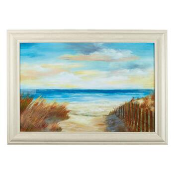 "30""x42"" Grassy Beach Path Framed Wall Art"