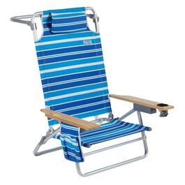 Jumbo Blue/White Striped 5-Position Sand Chair