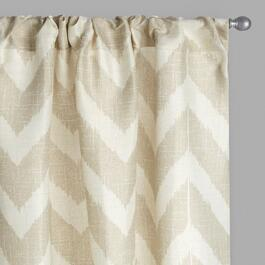 Tan Chevron Window Curtains, Set of 2
