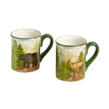 Lodge Wilderness Mugs, Set of 2