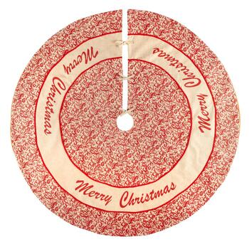 """Merry Christmas"" Burlap Tree Skirt"