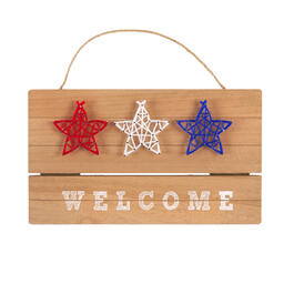 "13.25"" ""Welcome"" String Stars Wood Wall Hanging Sign view 1"