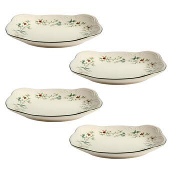 Famous Maker Winterberry Square Salad Plates, Set of 4 view 2