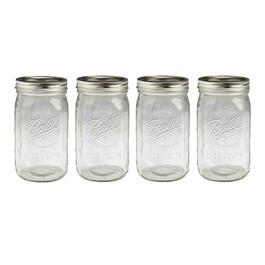 Ball® Wide Mouth Mason Jars with Lids, Set of 12