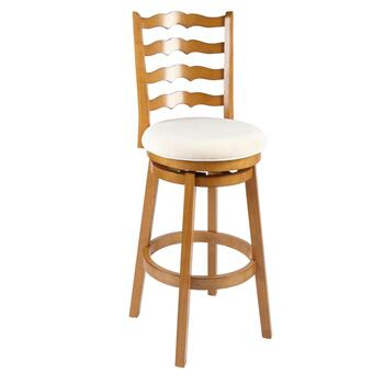 Oak Wood Ladder Swiveling Stool