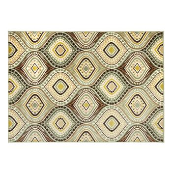 5'x7' Blue Ogee Olefin Area Rug