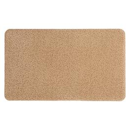 Mohawk Home Solid Beige Leaves Cushioned Floor Mat