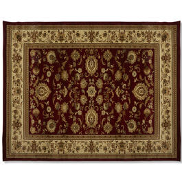"Traditional Red Brown Print 7'10"" x 10'3"" Area Rug view 1"