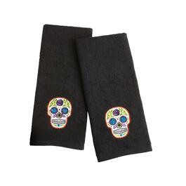 "16""x28"" Day of the Dead Cotton Hand Towels, Set of 2"