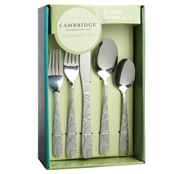 Cambridge® Conquest Geo Stainless Steel Flatware Set, 20-Piece view 2
