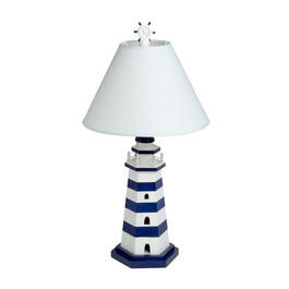 "22"" Striped Lighthouse Table Lamp view 1"