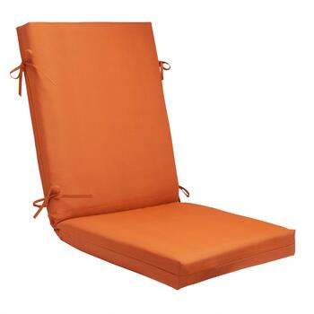 Solid Tangerine Indoor/Outdoor Hinged Chair Pad