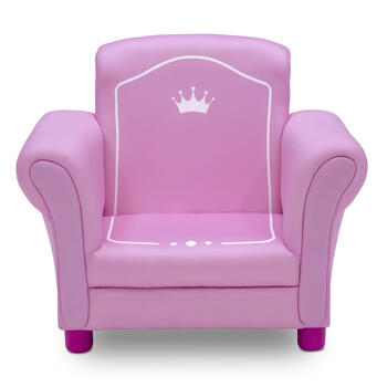 Crown Pink Upholstered Children's Chair view 1