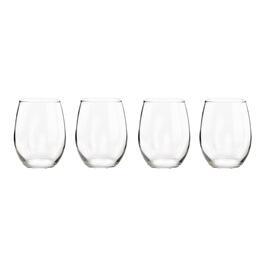Stemless Red Wine Glasses, Set of 4