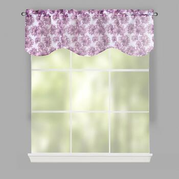 Purple Floral Esta Window Valances, Set of 2