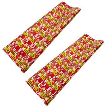 """Ho Ho Ho"" Prismatic Wrapping Paper Rolls, Set of 2"