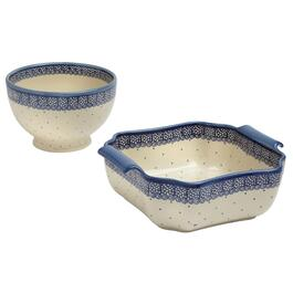 Scroll Dot Polish Pottery Bowls Collection