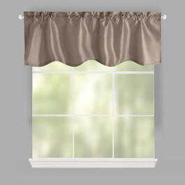 Silk-Style Lined Window Valances, Set of 2 view 1