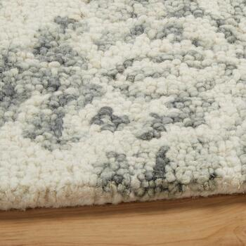 Gray Damask Wool Area Rug view 2