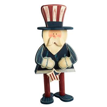 "24"" Wooden Uncle Sam Standing Decor"