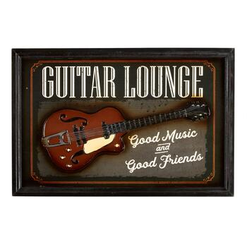 "16""x24"" ""Guitar Lounge"" Wall Sign"