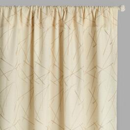 Embroidered Sticks Rod Pocket Window Curtains, Set of 2