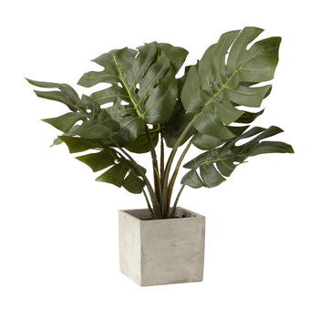 "21"" Artificial Slice Leaf Plant in Pot view 1"
