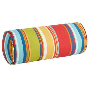 Fiesta Stripe Indoor/Outdoor Lumbar Roll Pillow