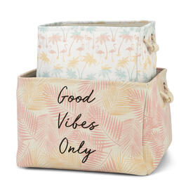 """Good Vibes Only"" Pastel Soft Storage Basket view 1"