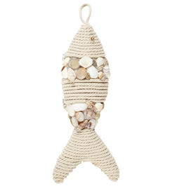 "15"" Coastal Rope Seashell Fish Ornament view 1"