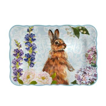 Easter Bunny Rectangular Melamine Serving Tray view 2