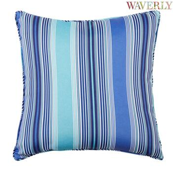 Waverly® Cobalt Stripe Indoor/Outdoor Square Throw Pillow