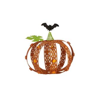 "7.5"" Metal Gem Pumpkin Decor"