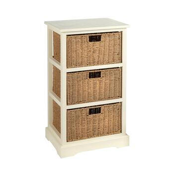 Aspen Cream 3-Basket Cabinet