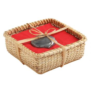 Seashell Paperweight Napkin Basket