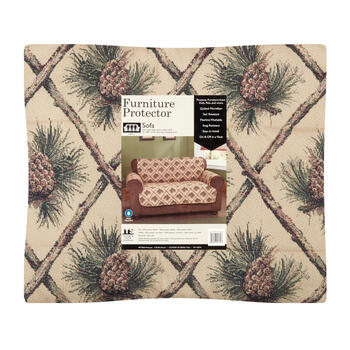 Crisscross Pinecones Sofa Quilted Microfiber Furniture Protector view 2