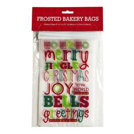 Joy Holiday Cellophane Treat Bags, 8-Count