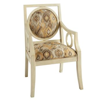 Brown Tribal Upholstered Accent Chair