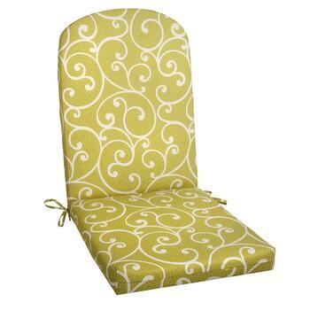 Green Scroll Indoor Outdoor Adirondack Chair Pad