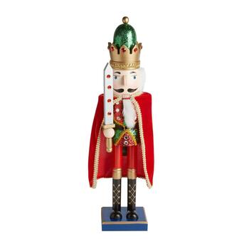 "26"" Cape and Jeweled Sword Nutcracker"