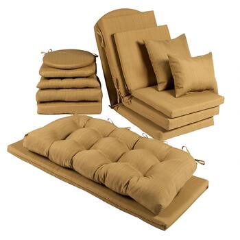 Solid Brown Indoor/Outdoor Chair Pads Collection