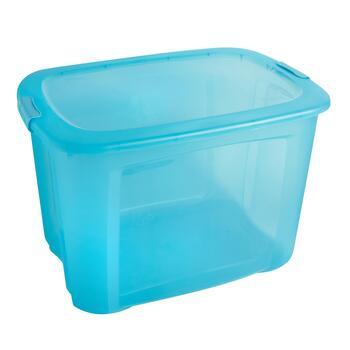 teal 121 qt locking lid plastic storage box - Christmas Tree Plastic Storage Box