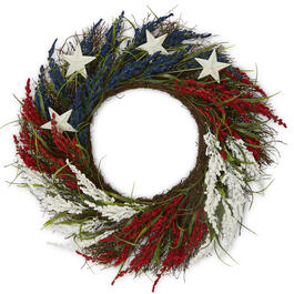 "22"" Red, White, & Blue Stars Wreath view 1"